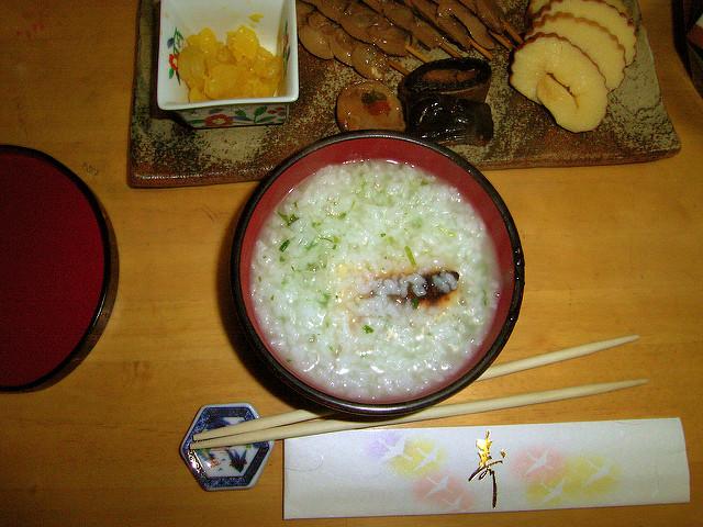 七草粥と漬物